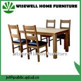 固体カシおよび革最高背部夕食の椅子