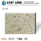 Bancadas de pedra de /Quartz das lajes artificiais pequenas cinzentas da pedra de quartzo da grão