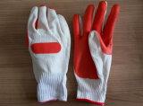 Прокатанный латекс покрыл перчатки безопасности работы перчаток