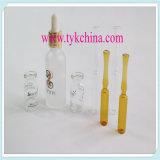 Tube de verre pour le choc cosmétique de bouteille