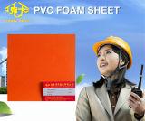 Folha de espuma de PVC laranja para decoração de negócios 6-20mm