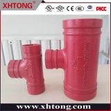 Raccordo a T di riduzione scanalato approvato FM UL Xhtong utilizzato per le tubazioni