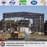 Taller de acero de la construcción del marco porta para la producción y procesar