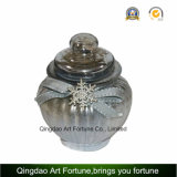 Vela de vidrio pulverizado metálicos con acabado mate de plata y para la decoración del hogar