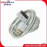 Кабель данным по USB TPE цвета вспомогательного оборудования мобильного телефона белый на iPhone 4