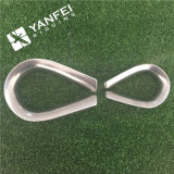 Heavy Duty Us Tipo G414 Carbon Steel / Ss Wire Rope Thimble