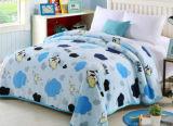 Épaississement simple, double, grande couverture estampée de polyester de couverture de flanelle (SR-B170316-10)
