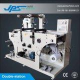 Doppelt-Station Sicherheits-Aufkleber-stempelschneidene Maschinerie mit aufschlitzender Funktion