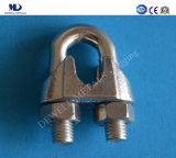Rigging AISI316 ou AISI304 en acier inoxydable DIN741wire Rope Clip