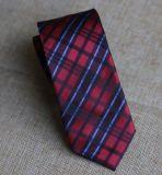 Gravata poli Handmade preta e vermelho verific