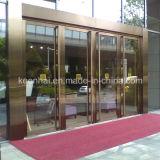 Interior em aço inoxidável comercial exterior de porta de entrada de vidro de segurança