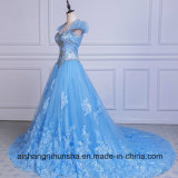 Cristal frisado A do laço de Tulle - linha vestido de noite formal do querido