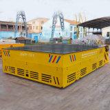 Ningún coche de transferencia de la remolque de la base plana de la potencia que se ejecuta en ferrocarril