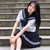 Японской школы кают единообразных моды ВМС кают школьной формы для девочек Косплей Костюм