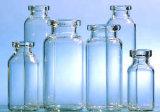 De duidelijke en Amber Farmaceutische Fles van het Flesje van het Glas door de Neutrale Buis van het Glas