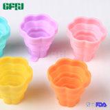 접을 수 있는 음식 급료 실리콘 서빙 사발 Foldable 컵