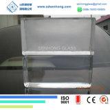 Blok van het Glas van de decoratie het Duidelijke Berijpte Stevige Transparante voor de Muur van het Glas
