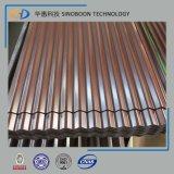 Plaque en acier de toiture en carton ondulé pour la construction avec la norme ISO 9001