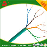 UTP Cat 5e red de cable cubierta por cable / cable LAN