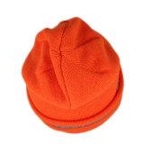 Orange Acrylformwinter gestrickte Beanie-Schutzkappe