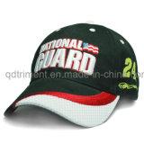 W -Shape Insertar bordado cepillado sarga de algodón Racing Cap ( TR026 )
