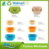 Bunte quadratische Salat-oder Frucht-Bambusfaser-Filterglocke mit unterschiedlicher Größe