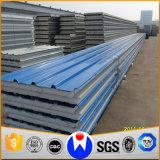 Feuilles de toit ondulé Matériaux de construction en tuiles en acier