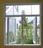 침실 (PCW-027)를 위한 싼 주문을 받아서 만들어진 PVC 여닫이 창 유리창