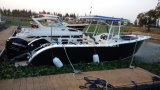 8.2m Al Gelast Gediplomeerd Ce van de Vissersboten van het Aluminium van de Console van het Centrum