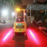10-80V de Lichten van de 6 LEIDENE van Osram van de Gevarenzone van de Duim 18W Rode Waarschuwing van de Veiligheid voor Vorkheftruck