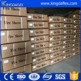Silicone Rubber Coated E-Grade Fiberglass Fire Sleeve / Mosa