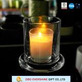 明確な円錐形のドームのガラス瓶の蝋燭ホールダーの卸売