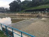 De professionele Fabrikant blaast de RubberPoort van de Dam op