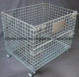 Malla de alambre doblado apilable Contatiner Jaula de almacenamiento (1000*800*840)