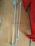Linea elettrica del bullone d'ancoraggio di pezzo fucinato di HDG bullone d'ancoraggio elicoidale saldato ricoperto della terra d'acciaio del hardware