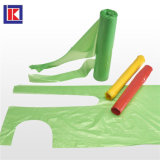 녹색 주문 크기 HDPE 롤에 처분할 수 있는 플라스틱 PE 앞치마