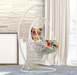 Сад висящих яйцо стул для использования вне помещений плетеной поворота / плетеная мебель поворотного механизма D014b