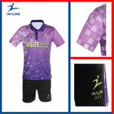 Healong personalizou o tênis de tabela Jersey da impressão do Sublimation do Sportswear