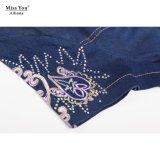Платье женщин Miss Вы Ailinna 801228 классицистической вышитое джинсовой тканью