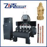 Máquina de cinzeladura giratória de madeira do CNC do fabricante de China