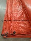 Couverture orange de bâche de protection de PE, feuille de Tarpolin