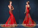 Платья вечера павлина Fishtail Mermaid Bridal ворота мантий высокого длинние
