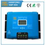 セリウムのRoHS青いMPPTの太陽電池パネルのパワー系統12V 24V 48Vは評価した電圧60A MPPT LCD表示(SMP-60)が付いている太陽料金のコントローラを