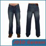 Джинсыы мытья Rinse джинсовой ткани людей прямые (JC3032)