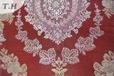 Tessuto rosso del sofà del tessuto del jacquard con protezione non tessuta (fth31860A)