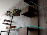 Des étagères en verre trempé/panneaux avec trou pour le mobilier en verre de meulage