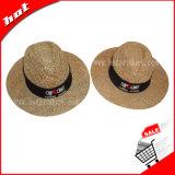 Chapéu da promoção do jogador do chapéu da promoção do chapéu de palha da promoção