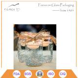 Candele di vetro di riempimento del vaso di muratore della cera liquida