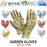 Сад Gloves, Printing Polyestershell Transparent Nitrile Coated Smooth Finish, Work Gloves (G1000) с CE, En388, En420