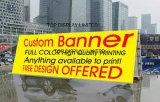옥외 광고 승진 또는 사건 또는 무역 전시회 또는 전람 또는 공정한 전시 메시 담 기치 인쇄하는 주문 광고 PVC 비닐 기치 디지털